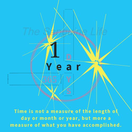 1 year water mark